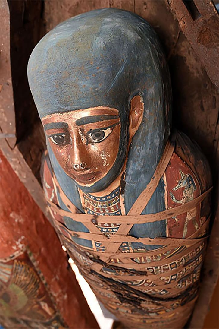 The collection of sarcophagi, announced on                        Monday, is believed to date back more than 2,500                        years.