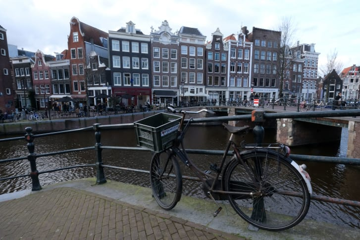 More than half of Amsterdam's residents over the age of 12 cycle daily.