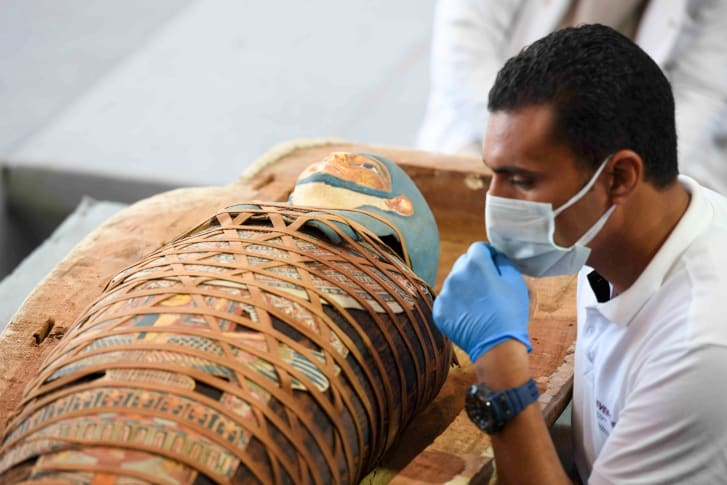 The finds will be moved to several museums across Egypt.