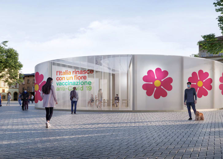 There will be 1,500 temporary pavilions set up in squares and town centers across Italy.