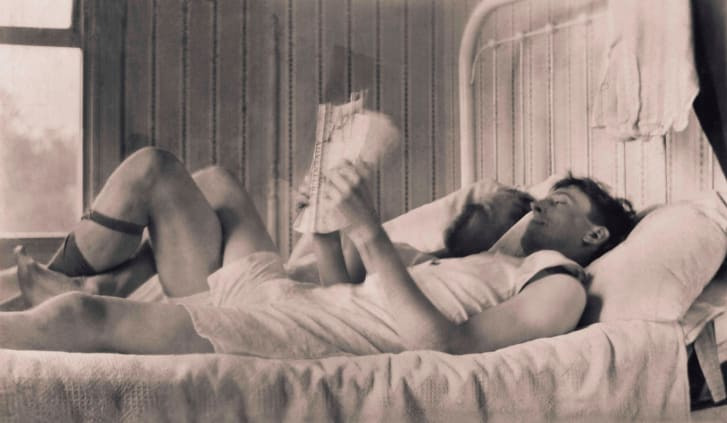 As well as posed portraits, the collection contains pictures of couples lying in bed and having picnics.