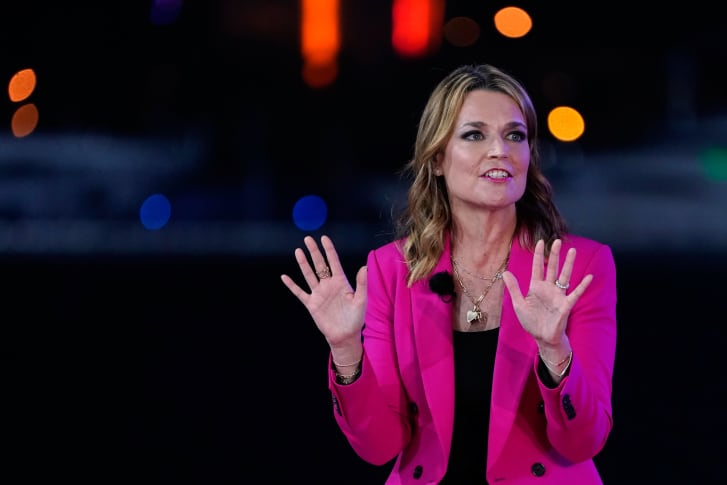 Savannah Guthrie pictured during an NBC News town hall event in October 2020.