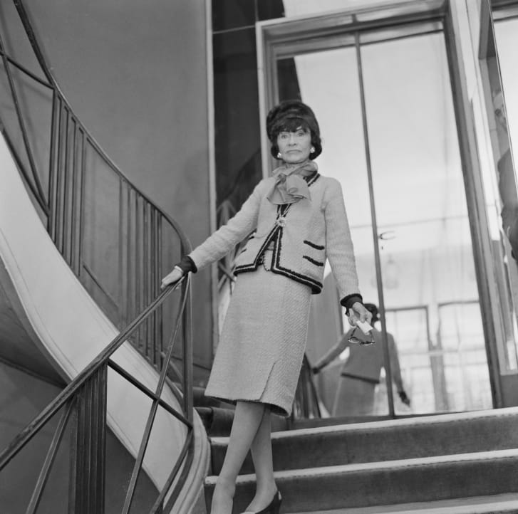 Coco Chanel in Paris, France in January 1963.