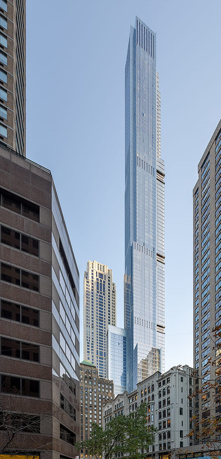 Last year's tallest new building, the 1,550-foot Central Park Tower in New York.
