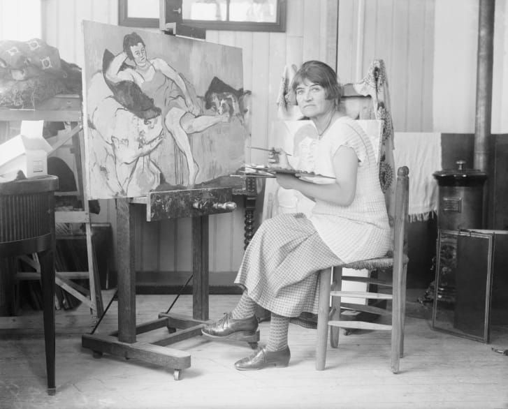 Suzanne Valadon was a famous artists' model who posed for Pierre-Auguste Renoir and Henri Toulouse-Lautrec before striking out on her own to paint.