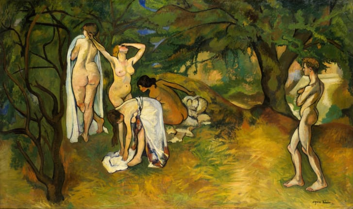 """Valadon was a female artist from a low-income background with no formal training, making her entry into the art world unheard of at the time. Pictured: """"Joy of Life,"""" 1911."""