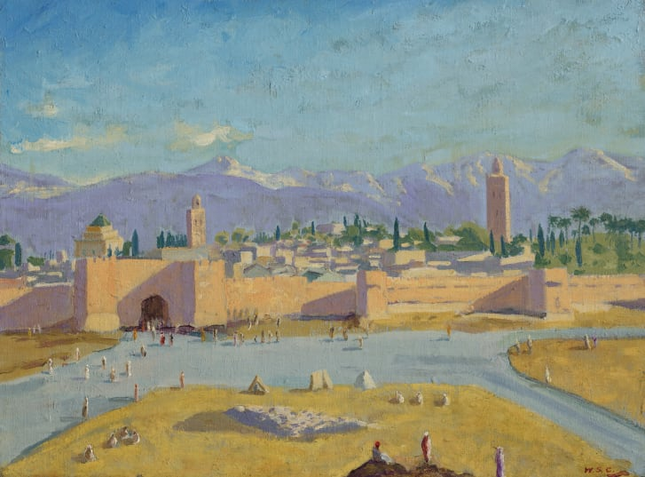 Churchill created the painting after attending the Casablanca Conference in 1943.