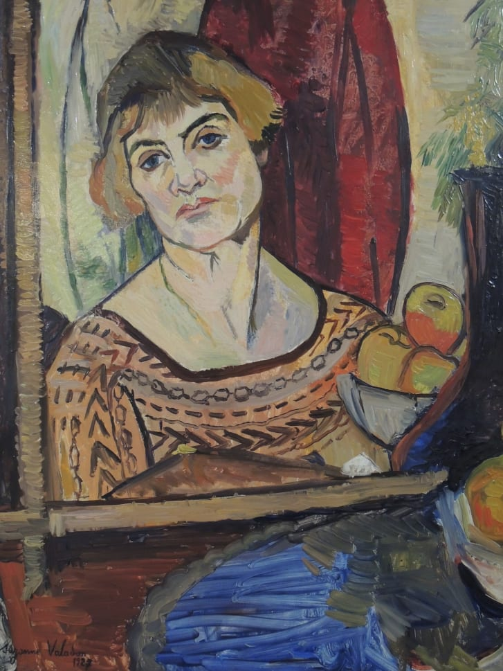 """Valadon painted self-portraits as she aged, eschewing idealized views of herself. Pictured: """"Self-Portrait,"""" 1927."""