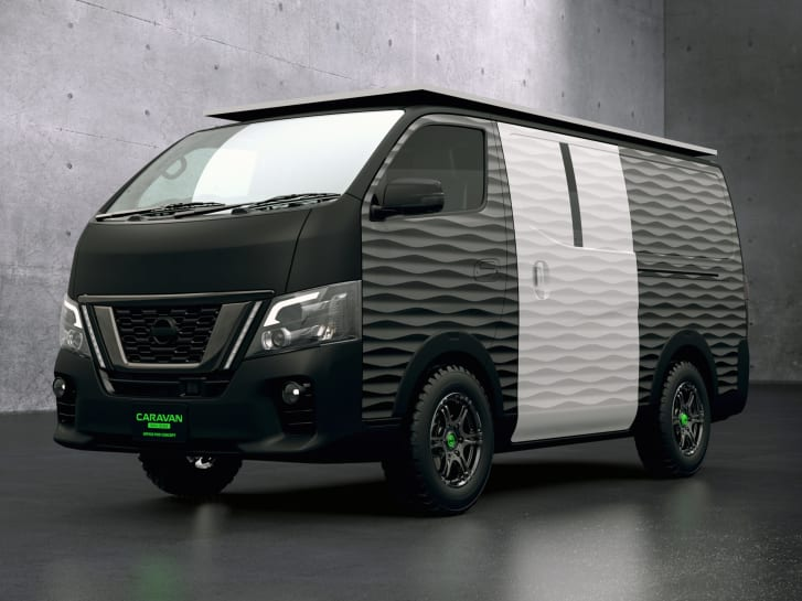 The concept design is based on Nissan's NV350 Caravan series.