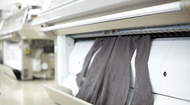 With Shima Seiki's computerized Wholegarment machine, a whole garment is knitted in a single seamless piece.