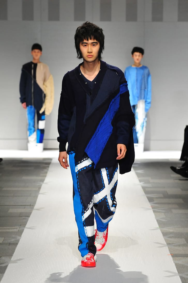 Another look from Nisai's Autumn-Winter 2021 collection that was featured at Tokyo's Rakuten Fashion Week.