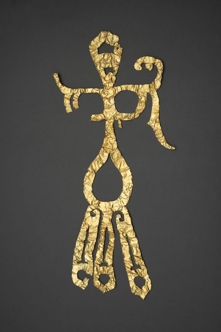 A gold decoration was among more than 500 other items recently unearthed from the site.