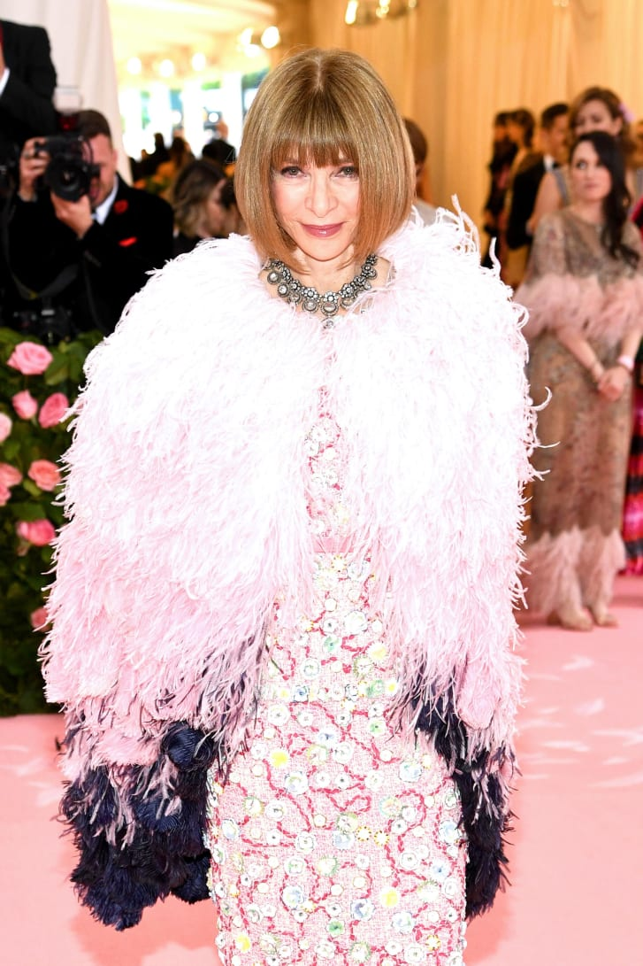 Anna Wintour attends The 2019 Met Gala Celebrating Camp: Notes on Fashion.