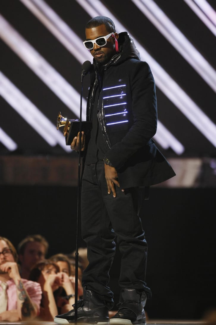 Kanye West scooped four Grammys on the night, including Best Rap Album.