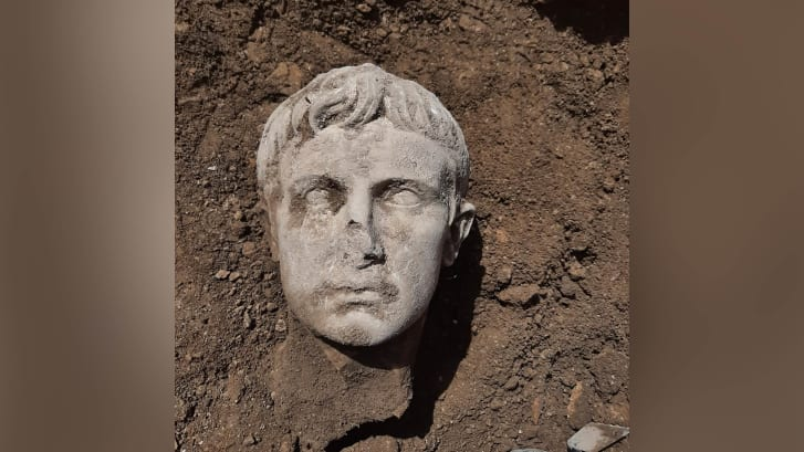 The sculpture was discovered while renovating Isernia's historic city walls - built during the imperial Rome period.