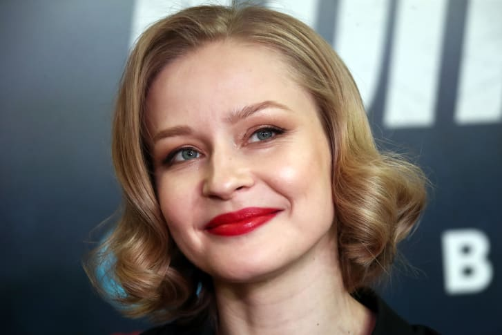 Aktris Yulia Peresild, yang berfoto di sini pada tahun 2019, akan menjalani pelatihan ketat sebelum membintangi film luar angkasa baru