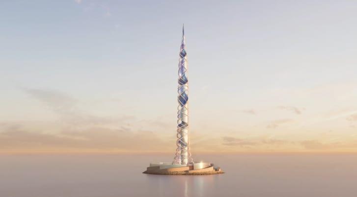 Kulla e planifikuar do të qëndrojë në periferi të Shën Petersburg, Rusi.