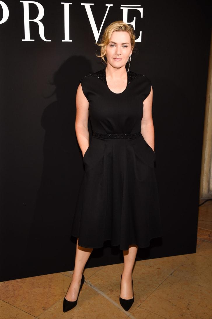 Kate Winslet menghadiri Haute Couture Paris Fashion Week pada 4 Juli 2017