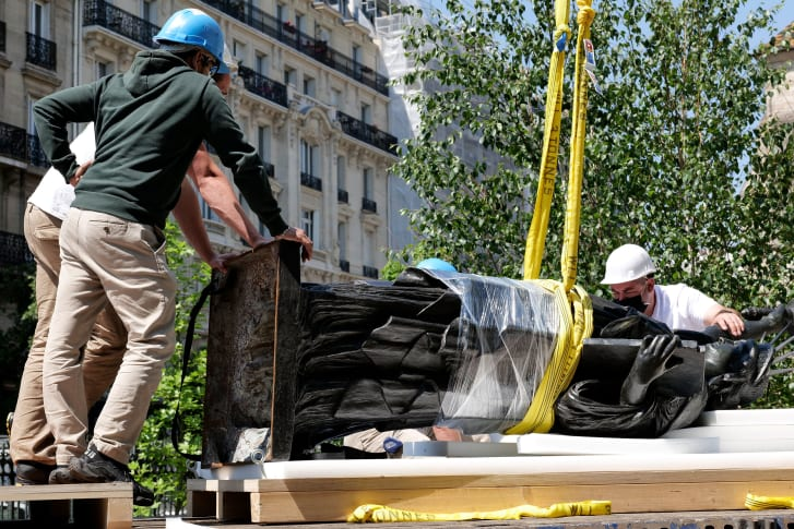 After Independance Day, it will be installed outside the French Ambassador's residence in Washington, D.C. on Bastille Day -- July 14.
