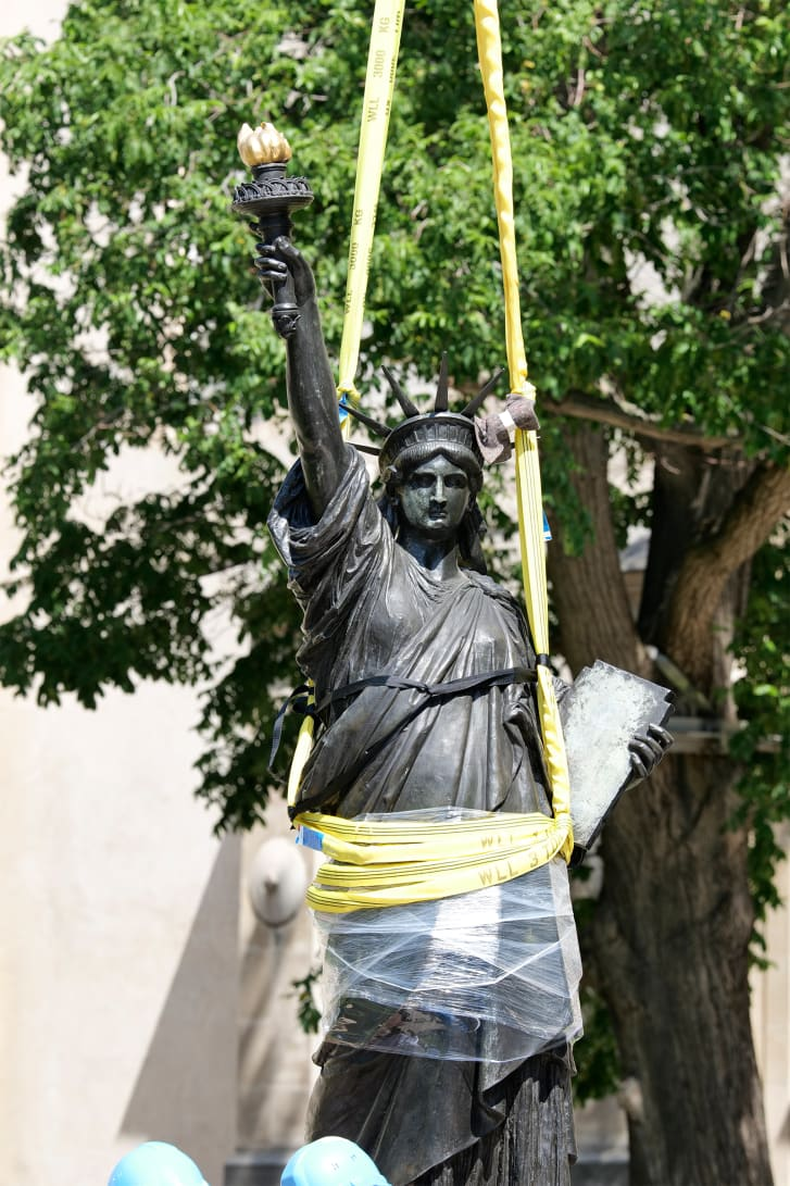 The value of freedom is central to the new Lady Liberty statue.