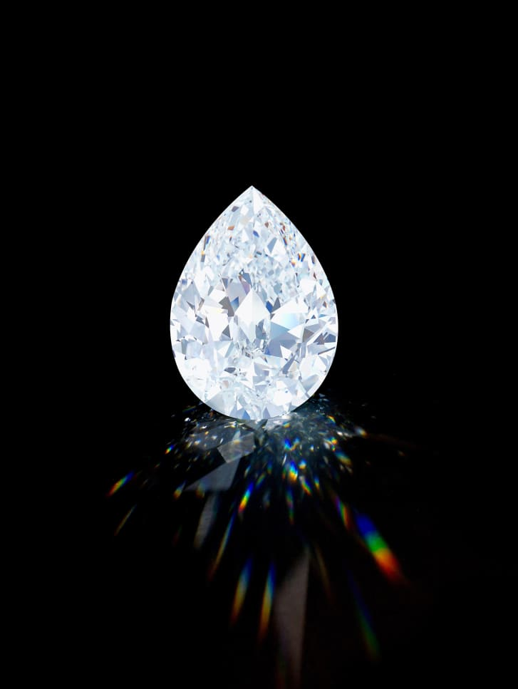 The gem is one of only 10 diamonds of its size and quality to appear at auction.