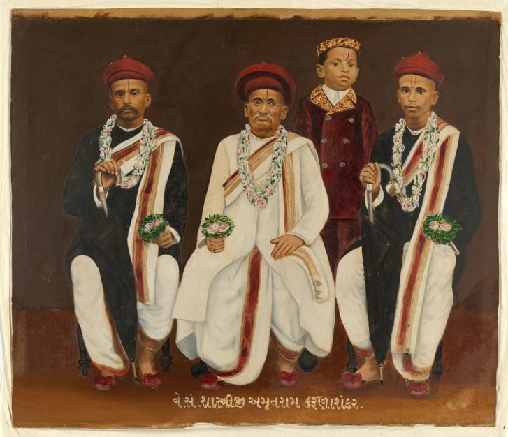 An untitled Gujarati family portrait is among the 14 items set to be returned.