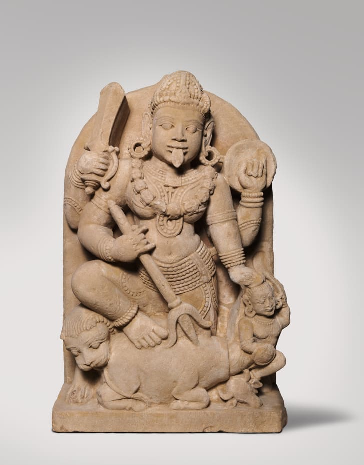 Believed to date back to the 12th to 13th centuries, this statue of the Goddess Durga slaying a buffalo demon was purchased by the National Gallery of Australia in 2002.