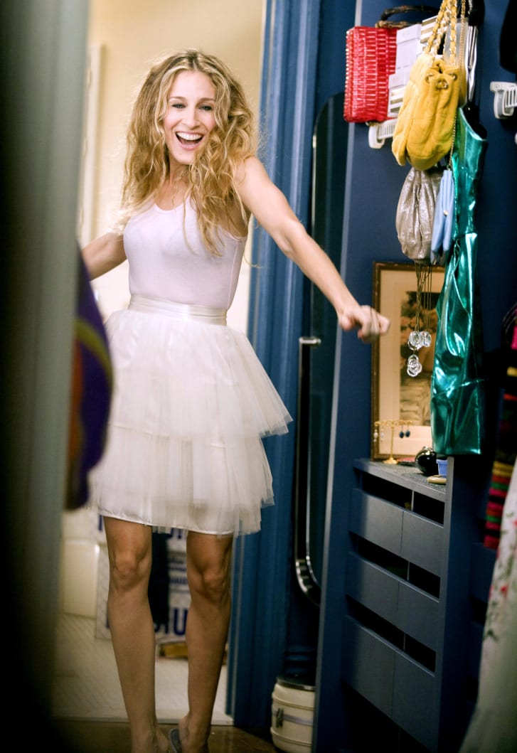 Carrie Bradshaw's tulle skirt was the defining feature of her wardrobe, appearing in the show's opening sequence.