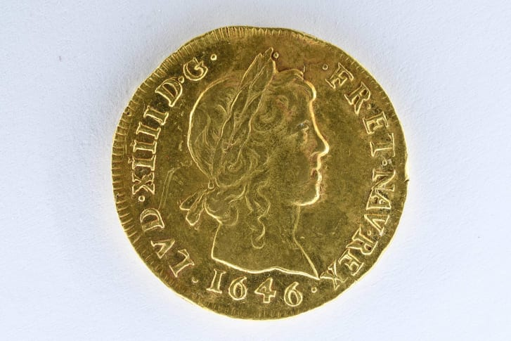 There are several especially rare coins among the collection, including the Golden Louis with a long curl, which has an estimated value of 15,000 euros ($17,805).