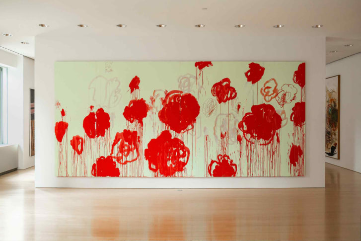 Cy Twombly's untitled work from 2007 has an estimate of $40-60 million.