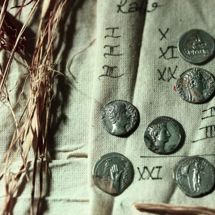 The haul contained 651 Roman coins.