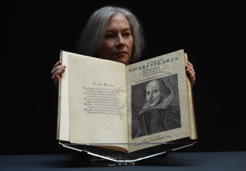 A copy of the book on display, prior to Wednesday's auction, at Christie's in London.
