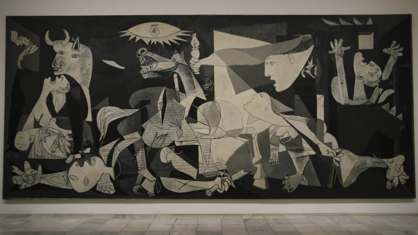 "Residing at the Reina Sofia, ""Guernica"" is one of the most famous paitings in the world."