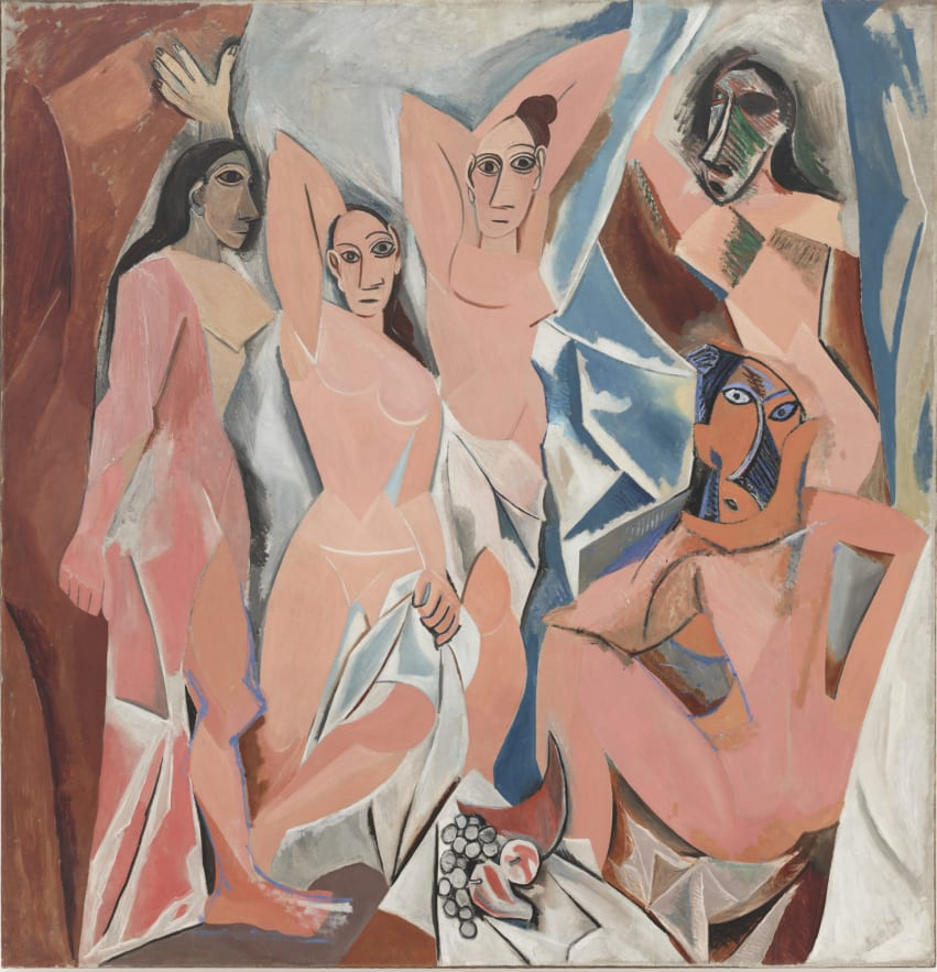 """Les Demoiselles d'Avignon"" caused quite the stir when it was finally displayed for public consumption."