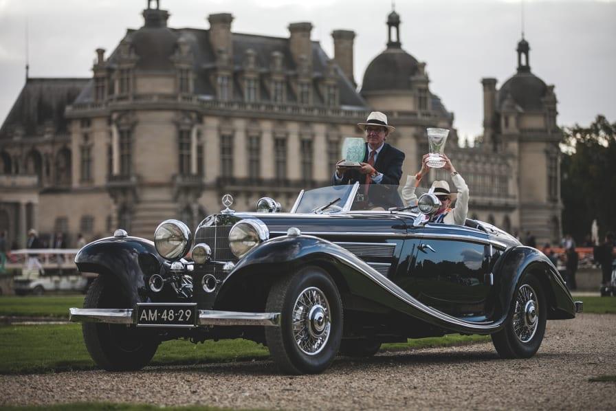 1 / 15  Evert Louwman Of Holland Receives Best Of Show For His 1936 Mercedes  Benz 500 K Special Roadster.mathieu Bonnevie