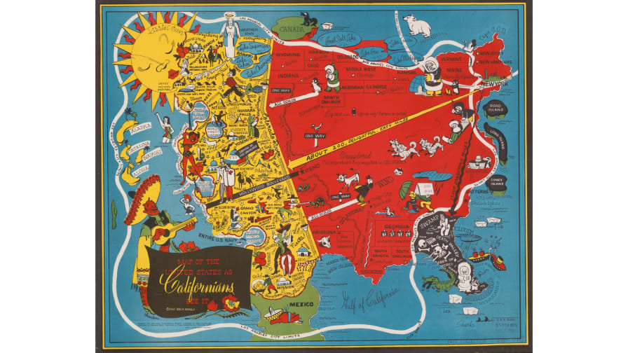 Pictorial maps tell the story of 20th-century America - CNN Style