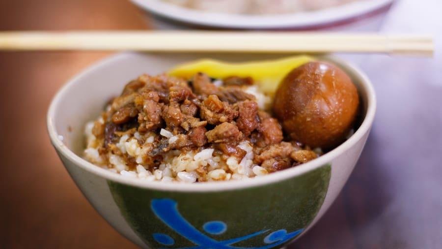 best taiwanese food 1braised pork lurou rice