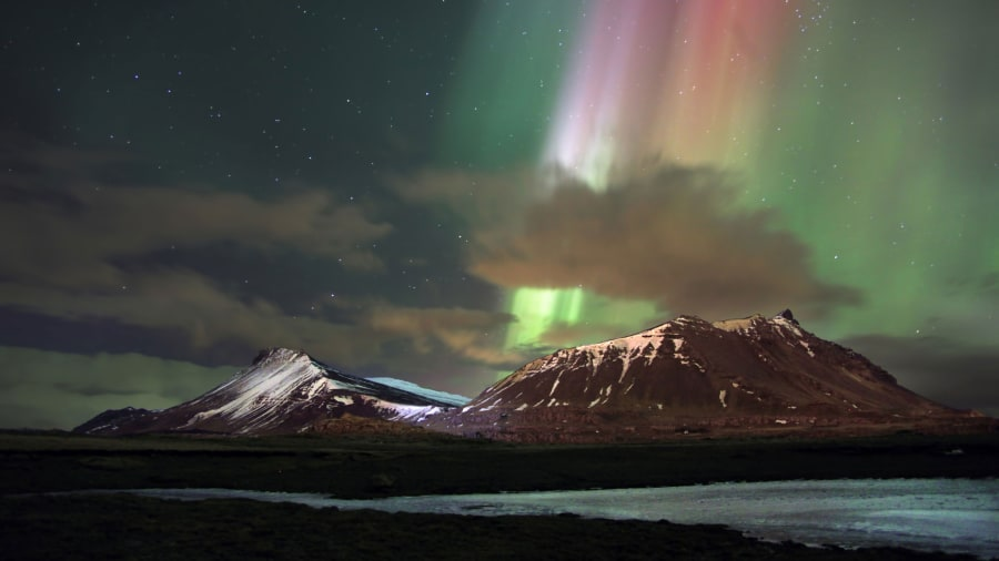 Beautiful 1/6. Winter Is Northern Lights Season In Iceland. Images