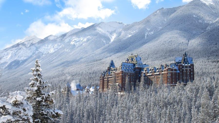 The Banff Springs Hotel in Banff, Alberta, Canada.