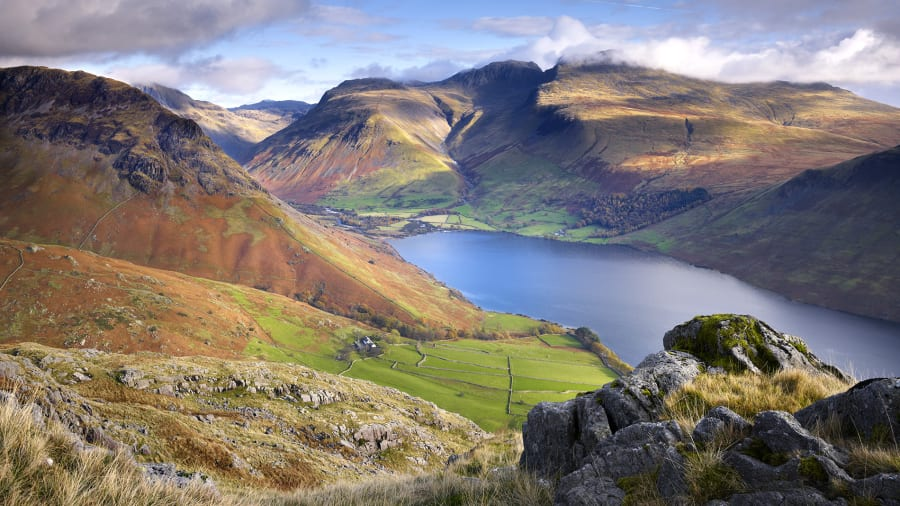 Beautiful England 11 Scafell Pike And Waser In Wasdale Valley
