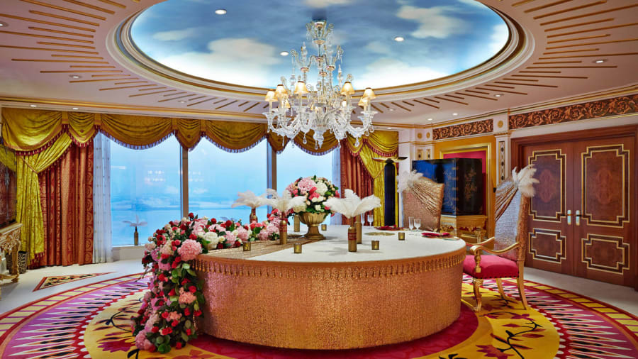 the middle east s most opulent hotel rooms cnn travel