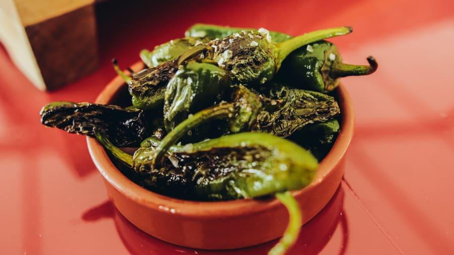essential spanish dish pimientos de padron wines from rioja