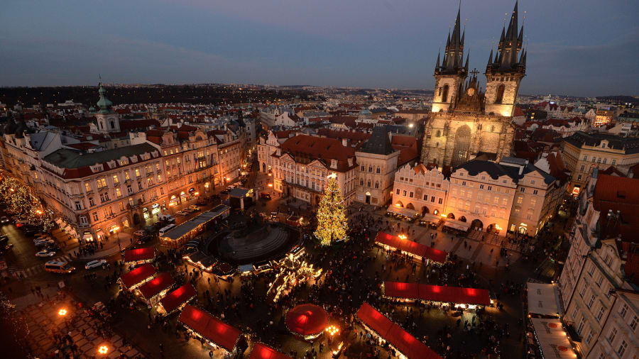christmas markets prague old town 460497210