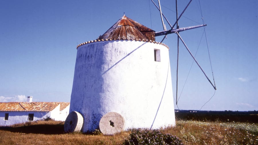 Portugal wild Algarve windmill
