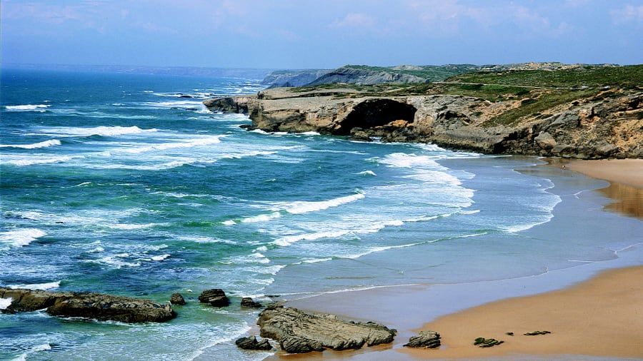 Portugal wild Algarve west beach