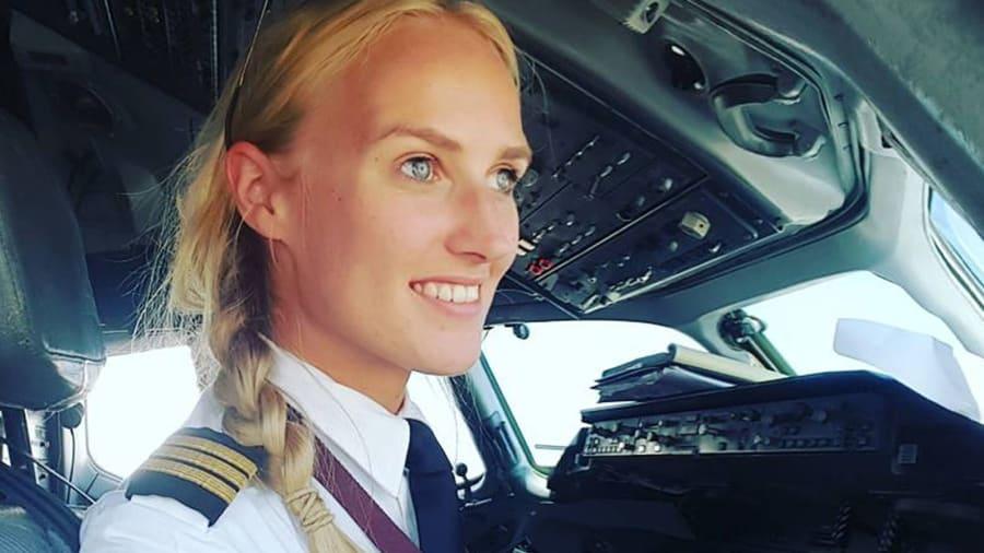 Blonde girl pilot, clitoris size survey