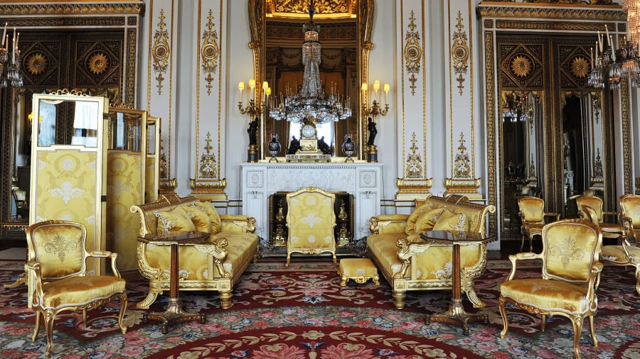 White Drawing Room Buckingham Palace Getty