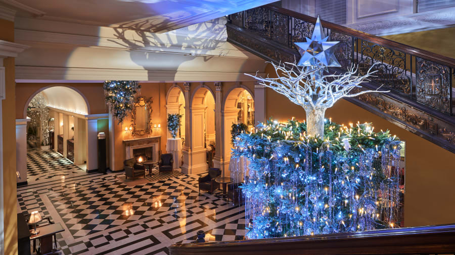 Hotels at christmas 10 that go all out for the holidays cnn travel claridges christmas tree 2017 aloadofball Images