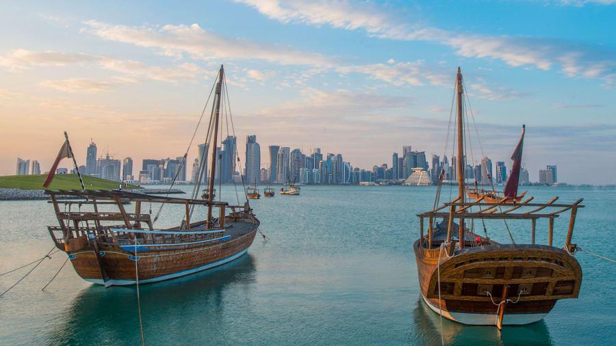 Best of Qatar Doha skyline