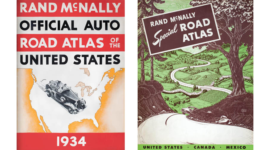 Rand McNally Vintage Atlases Map The Great American Road Trip CNN - Antique road maps